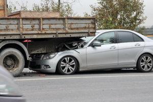 car hit a truck